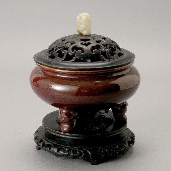 6200: A Flambé-Glazed Censer, Late 19th Century
