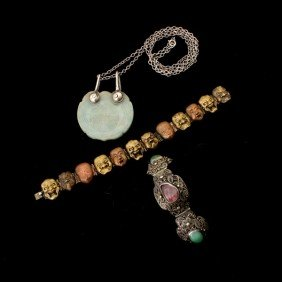 20: COLLECTION OF MULTI-STONE, SILVER, METAL JEWELRY.
