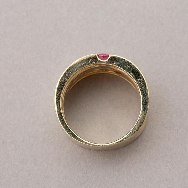 33: RUBY, DIAMOND, 14K WHITE GOLD RING. - 3