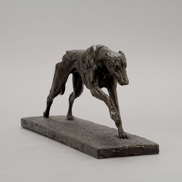 805: Greyhound Paperweight, Stand & Dog in Racing Silks - 2
