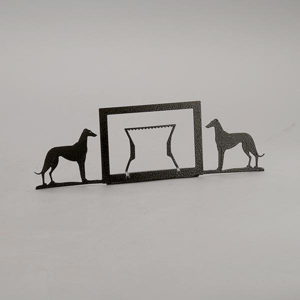 805: Greyhound Paperweight, Stand & Dog in Racing Silks - 5