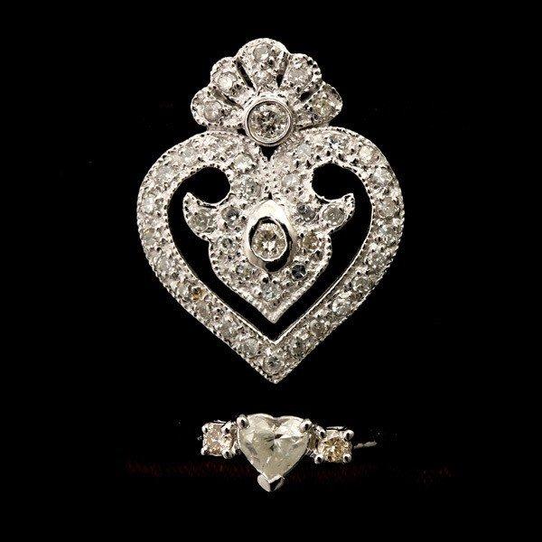 14: DIAMOND, PLATINUM, 18K WHITE GOLD JEWELRY.