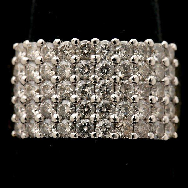 78: DIAMOND, 14K YELLOW AND WHITE GOLD RING.