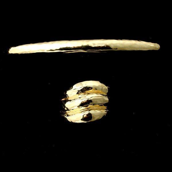 92: IPPOLITA 18K YELLOW GOLD RING AND BRACELET.