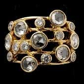 101 IPPOLITA DIAMOND 18K YELLOW GOLD RING