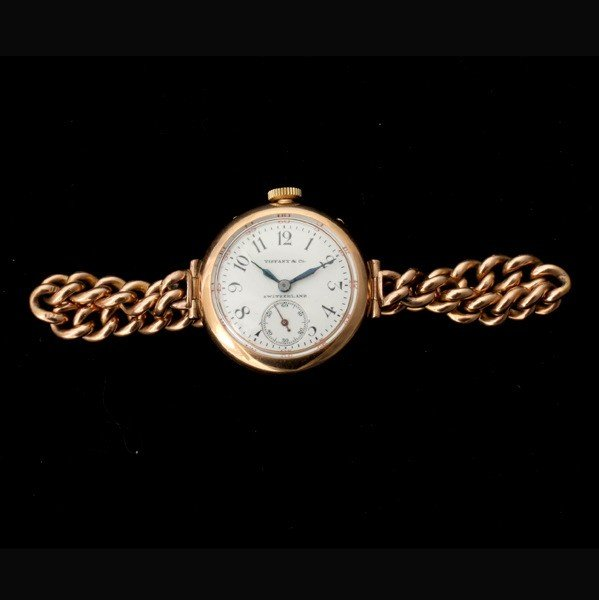 141: TIFFANY & CO. 18K ROSE GOLD WRISTWATCH.