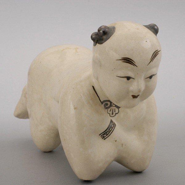 172: A Ceramic Child Form Pillow