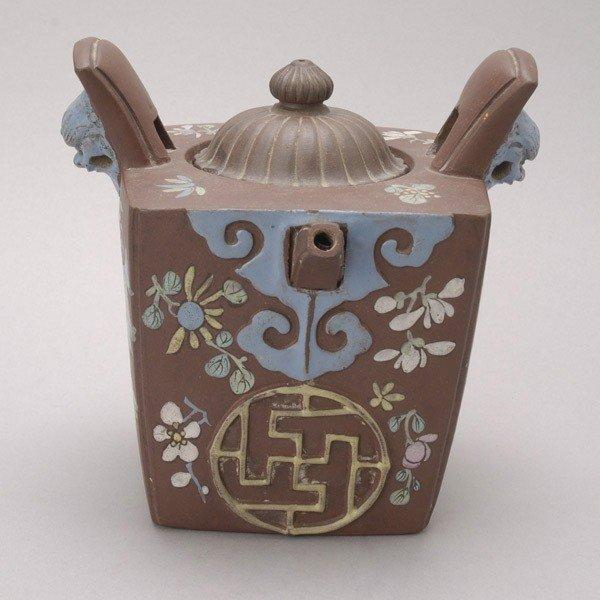 176: An Enamel-Decorated Yixing Teapot