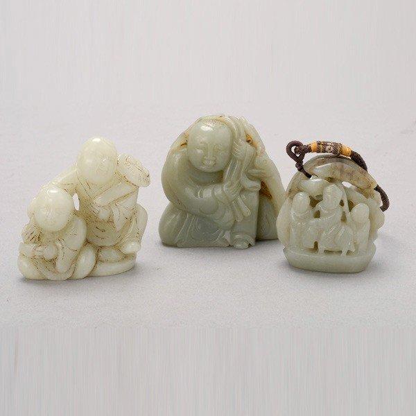 187: Three Jade Carvings
