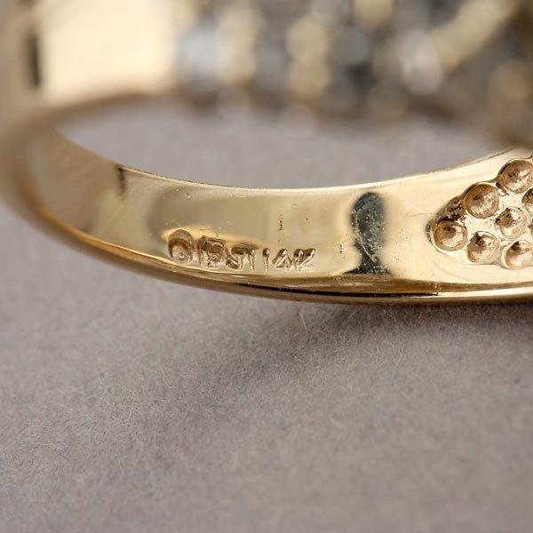 79: DIAMOND, 14K YELLOW GOLD RING. - 4