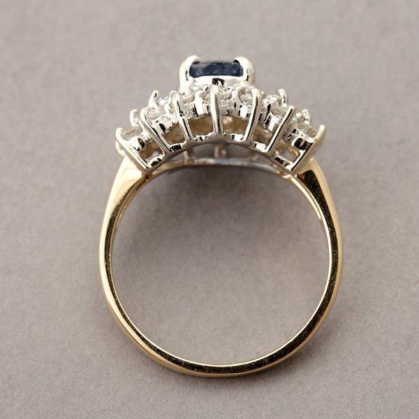 137: SAPPHIRE, DIAMOND, 14K WHITE GOLD RING. - 3