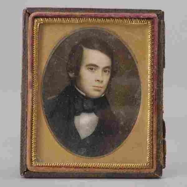 640: American Portrait Miniature of a Young Man