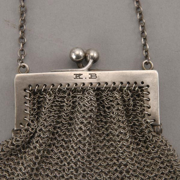 655: Shreve & Co. Sterling Mounted Asyut Purse, etc - 3