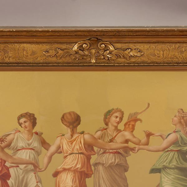 659: Framed Chromolithograph of Nine Muses and Apollo - 3