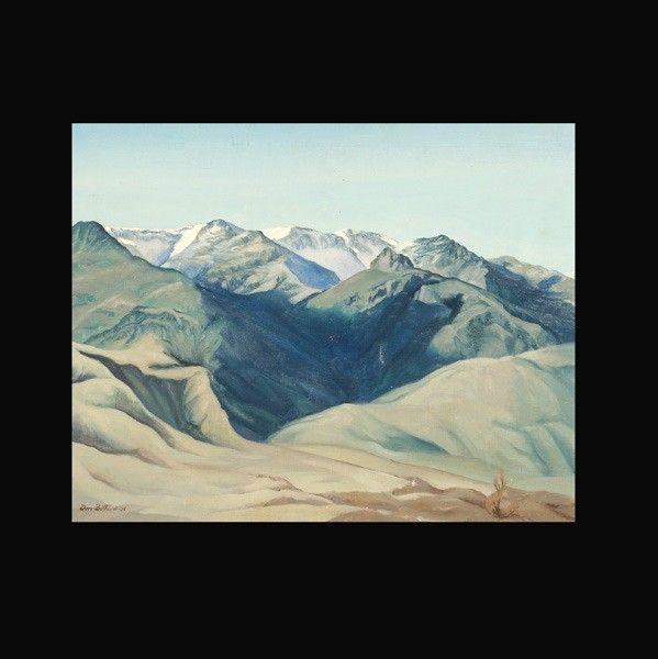 """699: Dorr Bothwell """"Mt. Landscape"""" Oil 1938"""