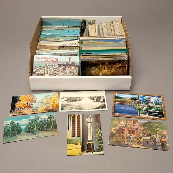 1008: Collection of Over 1,000 U.S. State Postcards.