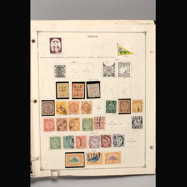 1145: Collection of Early Chinese Stamps in Album