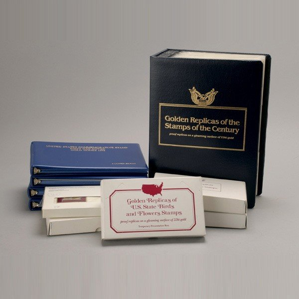 1176: U.S. Misc. Commemorative Gold Replica Stamps.
