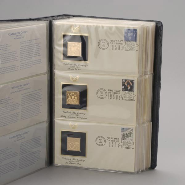 1176: U.S. Misc. Commemorative Gold Replica Stamps. - 2
