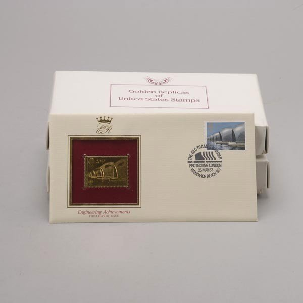 1176: U.S. Misc. Commemorative Gold Replica Stamps. - 4