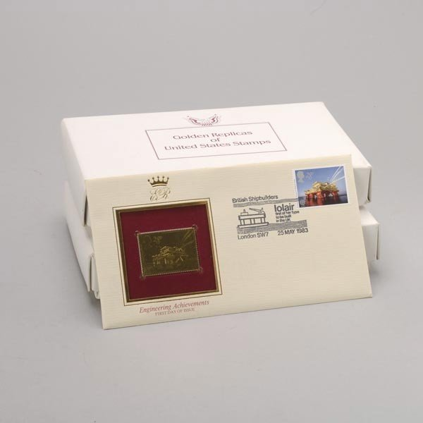 1176: U.S. Misc. Commemorative Gold Replica Stamps. - 5