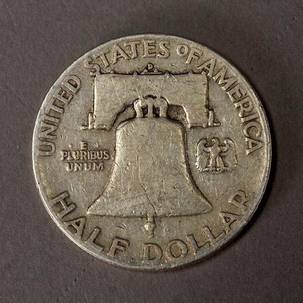 1260: Lot of Twenty-two Franklin Half Dollars. - 3