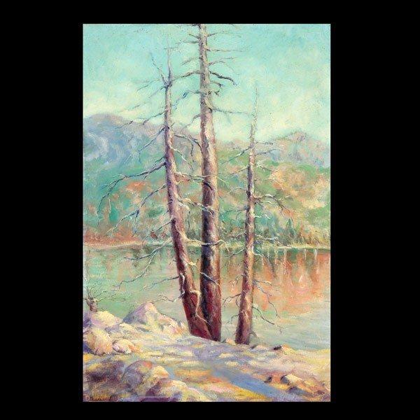 "4: BENJAMIN VAGANOV  ""By the Lake""  Oil on canvas"