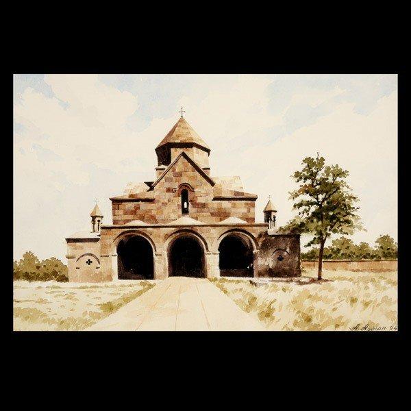 "11: ARMEN ASOIAN  ""Stone Church""   Watercolor"