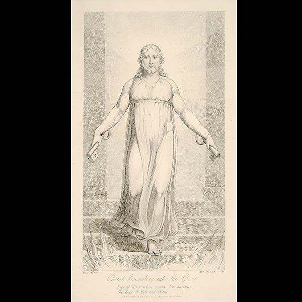 """17: William Blake. """"Christ Descending into the Grave"""""""