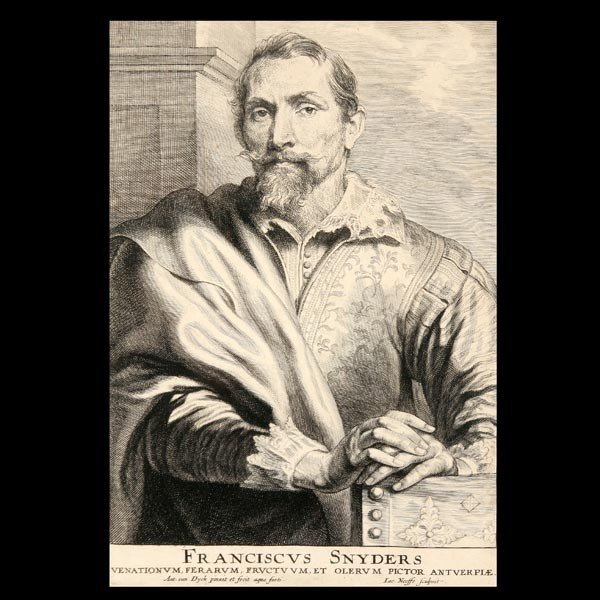 """19: ANTHONY VAN DYCK  """"Frans Snyders""""  Etching"""