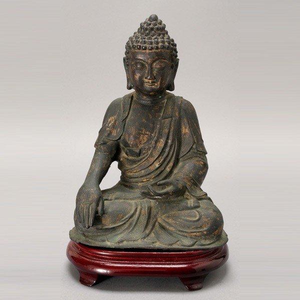 335: A Bronze Statue of a Seated Buddha