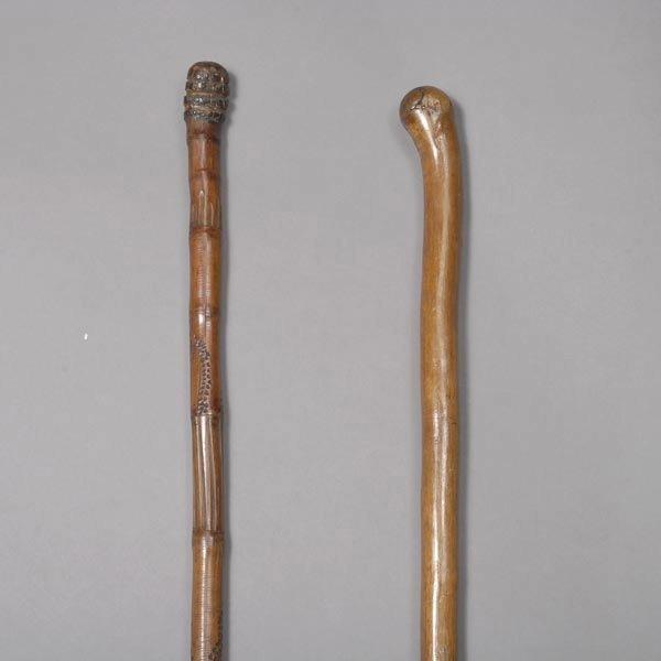 1011: Five Carved Folk Art Walking Sticks & Canes - 5