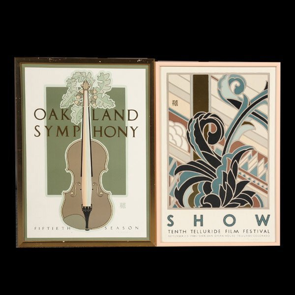 1090: Two David Lance Goines (Contemporary) Graphics