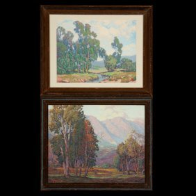 Two Landscapes, F. Grayson Sayre, And Paul Laurit