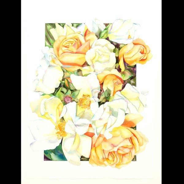 "1116: Sally Robertson ""Floral Still Life"" Watercolor"