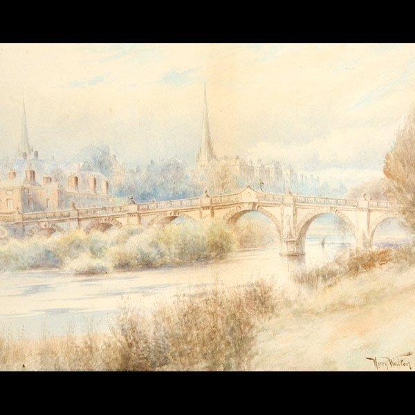 "1124: Henry Walton ""Cityscape"" Watercolor"