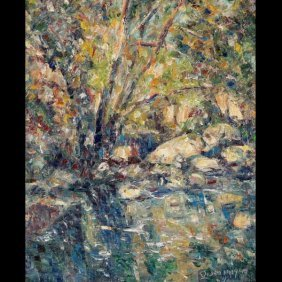 """John Dominique """"Solitude"""" Oil"""