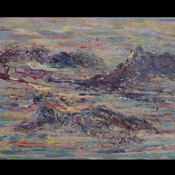 1135: Carmel Shore, Acrylic on canvas