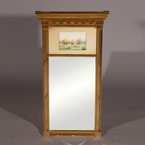 "1137: George Phipps ""Landscape w/ mirror"" Watercolor"