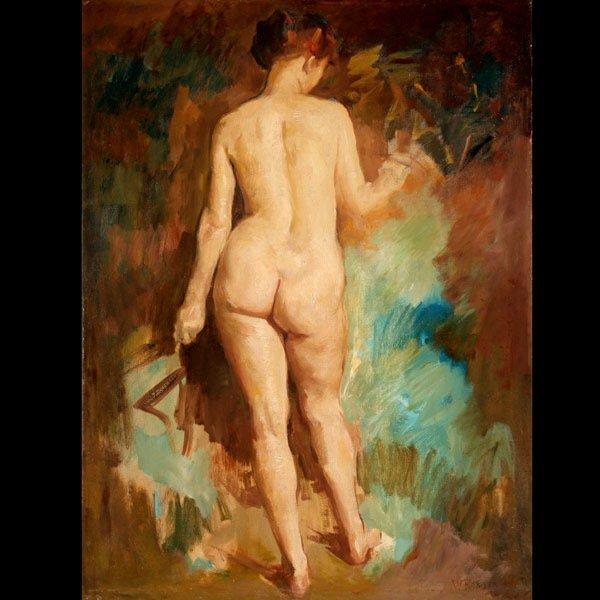 "1140: William Foster ""Nude"" Oil"