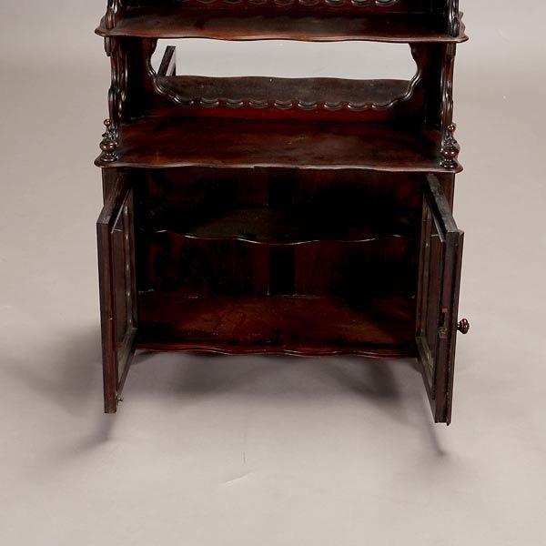 1162: Mahogany and Rosewood Mirror Back Etagere - 2