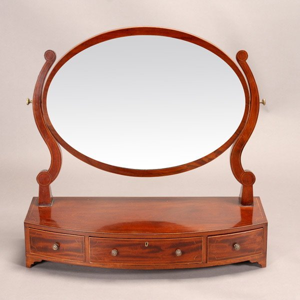 1164: Regency Style Mahogany Shaving Mirror