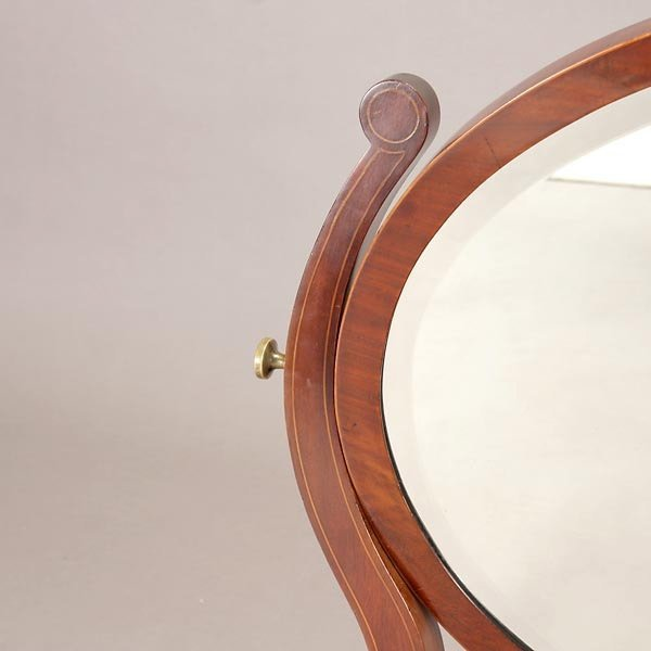1164: Regency Style Mahogany Shaving Mirror - 2
