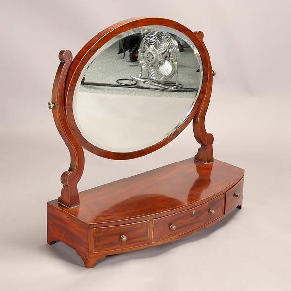 1164: Regency Style Mahogany Shaving Mirror - 3
