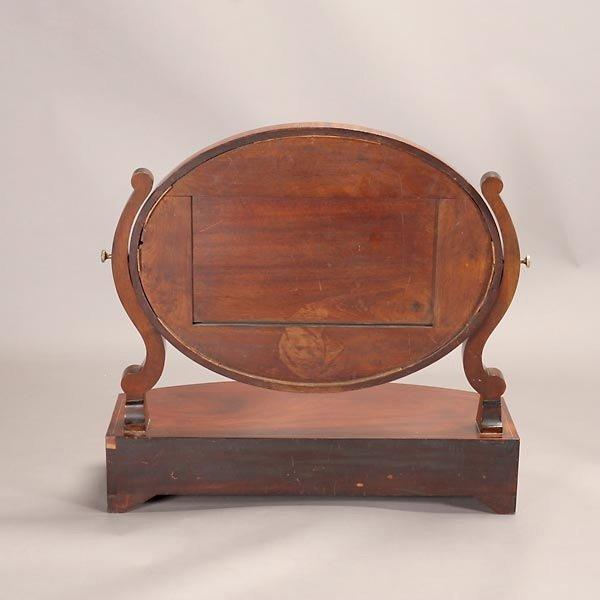 1164: Regency Style Mahogany Shaving Mirror - 5