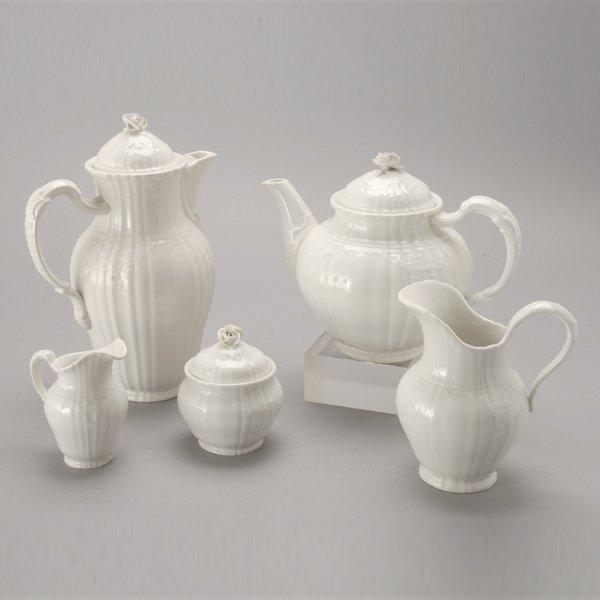 1075: KPM Berlin Porcelain Rocaille Coffee and Tea Set
