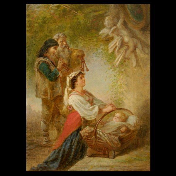 2: 19th Century Italian Scene, Oil on canvas