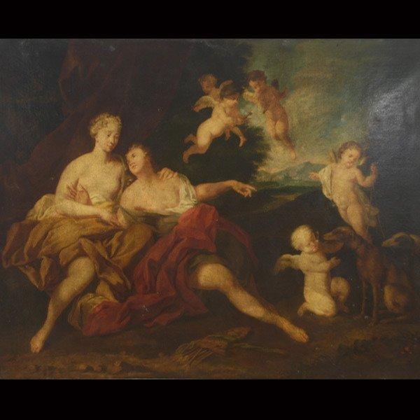 "3: Continental School   ""Artemis""   Oil on canvas."