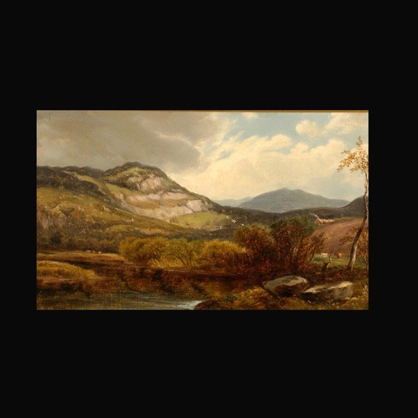 "6: Attributed to WILLIAM HART  ""Landscape with Lake"""