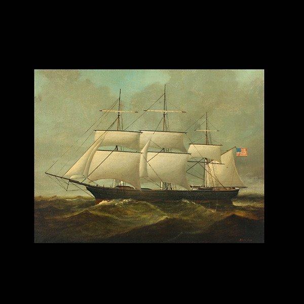 """11: Brian Coole """"Ship at Sea"""" Oil"""